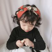 正韓兒童花朵交叉大蝴蝶結髮箍小女孩寬邊壓髮時尚頭飾女童髮卡 快速出貨免運