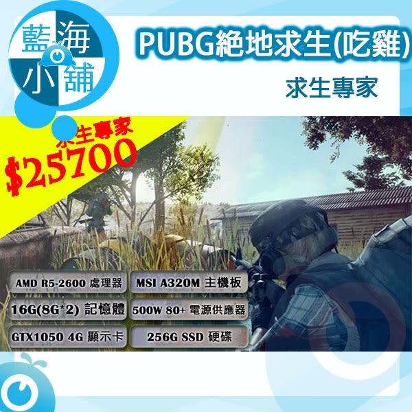 PUBG絕地求生系列電競主機 求生專家 套裝主機 桌上型電腦 (R5 2600/16G DDR4/256G SSD/GTX1050 4G)