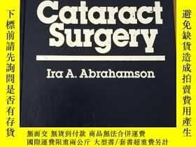 二手書博民逛書店cataract罕見surgery白內障手術 (英文原版書,仿皮面硬精裝,大量圖片)Y46704
