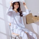 月子服睡衣女夏季長袖棉綢薄款套裝綿綢可愛人造棉女家居服 nm1959【VIKI菈菈】