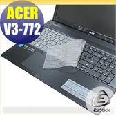 【EZstick】ACER Aspire V3-772 V3-772G 系列 專用奈米銀抗菌TPU鍵盤保護膜