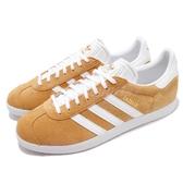 【六折特賣】adidas 休閒鞋 Gazelle 黃 白 男鞋 麂皮 金標 基本款 運動鞋【PUMP306】 B41653