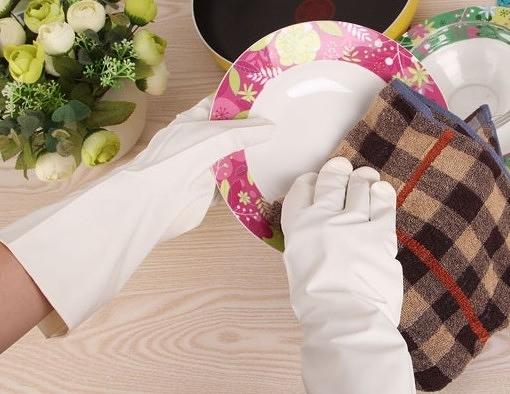 【協貿國際】乳膠手套洗衣手套-白色(S碼)2入