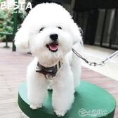 狗狗牽引繩 夏天寵物小狗狗牽引繩背心式胸背帶鍊子小型犬泰迪博美比熊遛狗繩