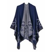 仿羊絨披肩-時尚腰果花花紋捲邊女圍巾5色73we7【巴黎精品】