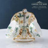 高檔歐式骨瓷咖啡杯套裝創意陶瓷金邊下午茶茶具禮物杯具帶勺 雙十一87折