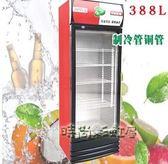 冷藏柜保鮮柜展示柜立式飲料柜商用單門388家用冰柜商用冷柜水柜 220V igo「時尚彩虹屋」