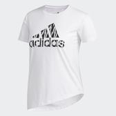 ADIDAS BADGE OF SPORT 女裝 短袖 慢跑 訓練 側邊系帶 舒適 白【運動世界】FL8508