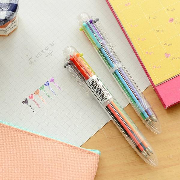 【03092】 可愛多色圓珠筆 文具 辦公室 開學 藍筆 紅筆 彩色
