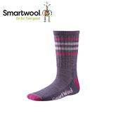 【美國 SmartWool 童健行輕量避震條紋中長襪《沙漠紫》】SW001098/保暖/戶外/運動襪