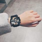 男生手錶 歐美個性嘻哈男大表盤超大非機械表霸氣酷學生潮流帥氣【快速出貨超夯八折】
