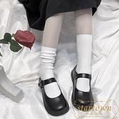 夏日中筒襪子女韓版日系可愛純色堆堆長襪棉【繁星小鎮】