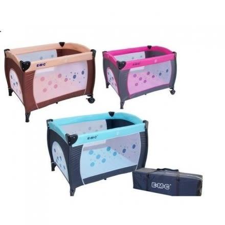 EMC嬰幼兒雙層遊戲床+尿布架+雙層架+蚊帳 [仁仁保健藥妝]