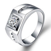 925純銀戒指-復古鑲鑽生日情人節禮物男戒指6c100【巴黎精品】