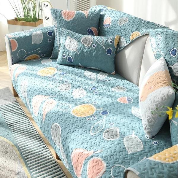 純棉沙發墊四季通用北歐簡約現代時尚布藝防滑全棉沙發套罩巾全蓋