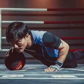 健身緊身衣-彈力緊身速乾跑步男短袖運動服2色73np14[時尚巴黎]