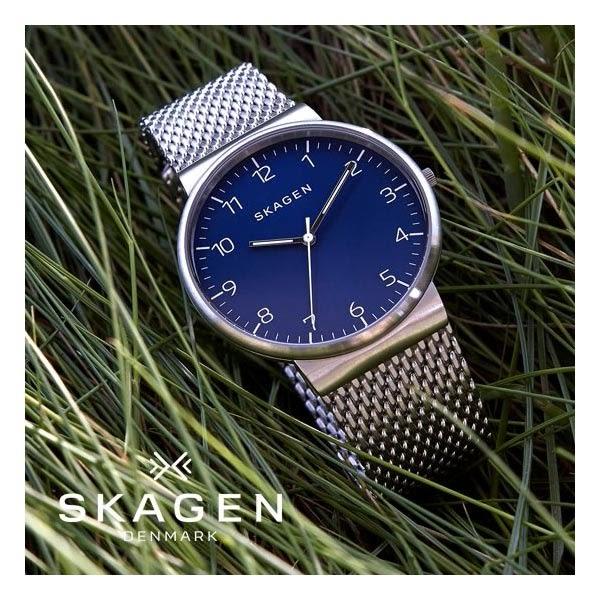 SKAGEN Hagen 北歐時尚石英腕錶/手錶-藍x咖啡/36mm SKW2451