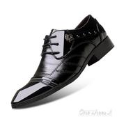 (免運)尖頭皮鞋男春正韓英倫時尚潮男鞋個性發型師鞋子青年商務休閒鞋