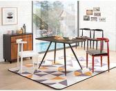 【新北大】✪ C851-2艾維尼4尺深色餐桌(不含餐椅)-18購