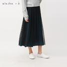 a la sha+a  條絨點點網紗褲裙...