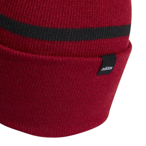Adidas Woolie 毛帽 酒紅 毛球 毛帽 男 女 字母 毛帽 Pompom 保暖 聖誕禮物 ED0241