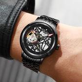 手錶男 手錶男士機械錶全自動鏤空運動休閒時尚潮流學生防水男錶 夢藝家