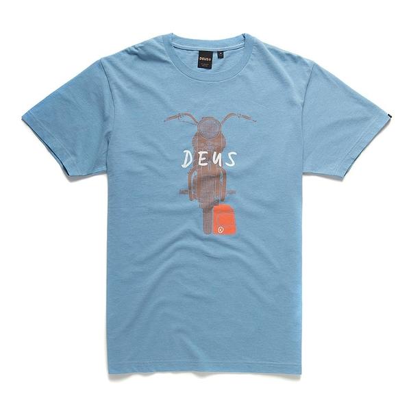 Deus Ex Machina  Frontage Tee  T恤-(藍)