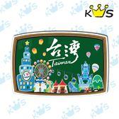 【防水貼紙】黑板-台灣 # 壁貼 防水貼紙 汽機車貼紙 10.5cm x 7cm