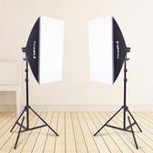 單燈頭柔光箱2燈套裝攝影棚攝影燈柔光箱套裝攝影器材補光燈  IGO