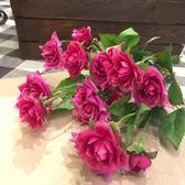 《齊洛瓦鄉村風雜貨》日本zakka雜貨 日本鑽石玫瑰花 粉色玫瑰花 仿真人造花