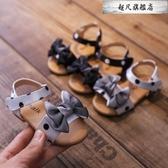 女童涼鞋2020新款夏季小公主時尚軟底1-3歲蝴蝶結兒童防滑沙灘鞋4-免運直出