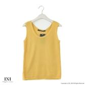 【INI】週慶限定、鄉村無印風格針織多色背心.黃色