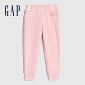 Gap女幼童 Logo絎縫式鬆緊運動褲 614523-淡粉色