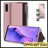 【萌萌噠】歐珀 OPPO A31 2020 新款高透視窗系列 有機玻璃 可支架 透明視窗 側翻皮套 手機殼 手機套