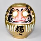 達摩 達磨 不倒翁 20cm高 群馬縣高崎生產日本製 開運吉祥 大願成就 金色