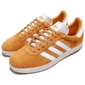 adidas 休閒鞋 Gazelle 復古 黃 白 麂皮 金標 男鞋 運動鞋【PUMP306】 CQ2801