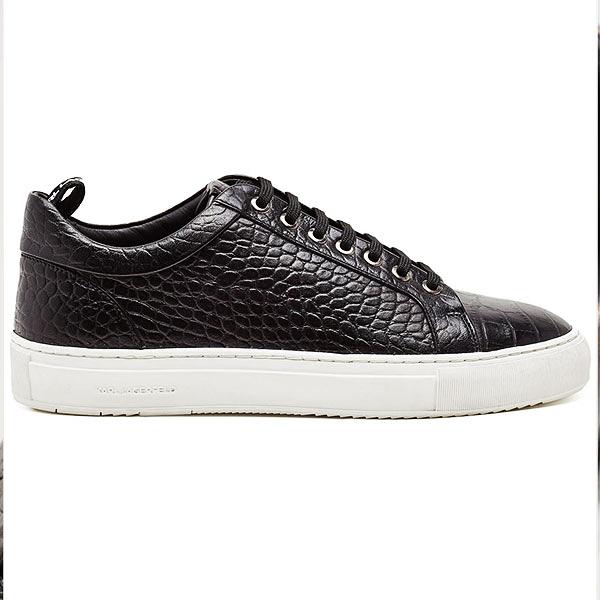 (OUTLET)Karl Lagerfeld 卡爾 老佛爺 鞋 KUPSOLE 蛇紋休閒運動男鞋-黑 (原廠公司貨)
