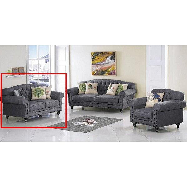 沙發 PK-267-5 921灰色布沙發二人椅【大眾家居舘】