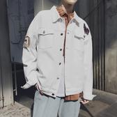 春季新款男士韓版牛仔衣外套外套青少年百搭潮翻領外套Mandyc