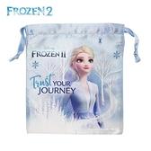 日本限定 迪士尼 冰雪奇緣2 Elsa 艾莎 束口袋 / 收納袋