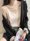 吊帶背心 真絲吊帶女性感無袖上衣夏寬鬆外穿網紅西裝內搭打底小背心潮寶貝計畫 上新