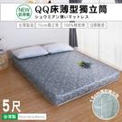 [赫拉名床] (5尺) 免運費 床墊 薄型床墊 / QQ床15公分薄型獨立筒床墊 (獨家商品) 【赫拉居家】