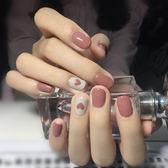美甲飾品穿戴式美甲貼紙韓國防水持久3D指甲貼紙全貼【極簡生活館】