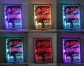 led電子熒光板懸掛式銀夜光黑板40 60熒光屏廣告牌發光手寫板寫字igo「Top3c」