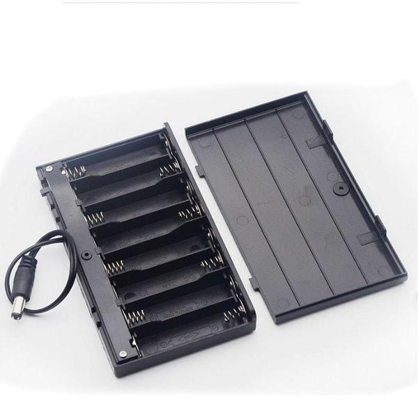 【DY327】帶蓋帶開關電池盒3號8節串聯 電池盒 12V DC插頭 行動電源★EZGO商城★