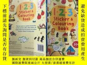 二手書博民逛書店123罕見Sticker And Colouring Book