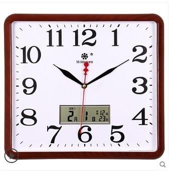 方形電子掛鐘客廳靜音鐘表家用個性創意時尚藝術萬年日歷石英鐘大ATF 艾瑞斯居家生活