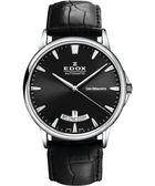 EDOX Les Bemonts 薄曼系列機械腕錶-黑 E83015.3.NIN