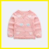 女寶寶針織開襟 毛衣外套薄款空調衫