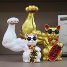 開業送禮巨臂劫財貓麒麟臂店鋪發財貓辦公室前臺肌肉招財貓小擺件